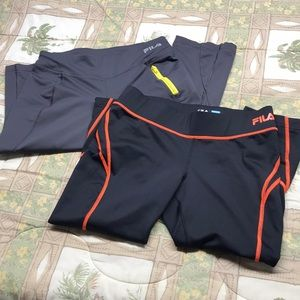 Fila Sport - Workout / Running Capris - Two Pairs